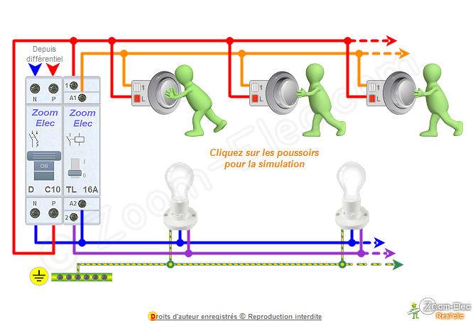 Schma tlrupteur schma lectrique interactif dun tlrupteur - Schema electrique lumiere ...