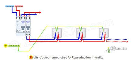 Schma prise lectrique prise de courant norme et cblage du circuit - Glaciere electrique prise courant ...