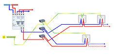 Schmas lectriques cblages et branchements de circuits gratuits - Branchement seche serviette electrique prise courant ...